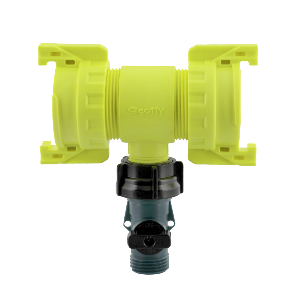 F4040-QC - Water Thief With Shut Off & Quick Connects - Scotty Fire